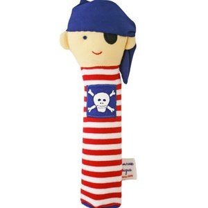 Alimrose Blue Pirate Soft Squeaker 20cm Play Toy